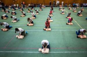 Újraélesztési Guinness-rekordkísérlet Budapesten